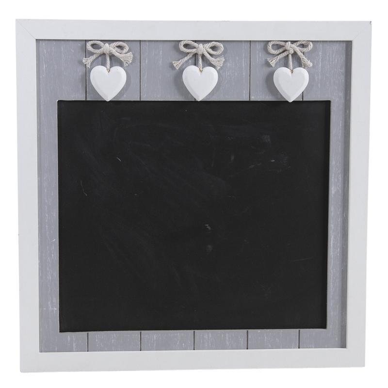 tableau noir en bois avec coeurs dca1910 aubry gaspard. Black Bedroom Furniture Sets. Home Design Ideas