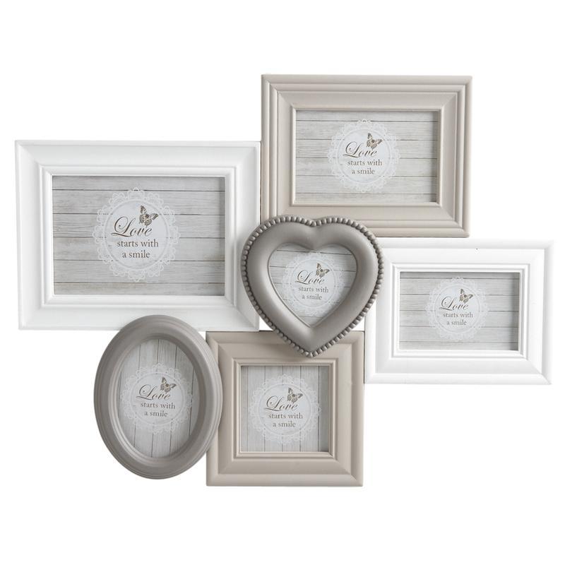 cadre 6 photos en bois laqu et verre dca2040v aubry gaspard. Black Bedroom Furniture Sets. Home Design Ideas
