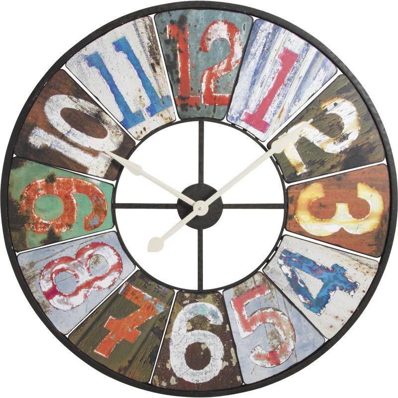 Horloge En Bois Et M 233 Tal Dhl1310 Aubry Gaspard