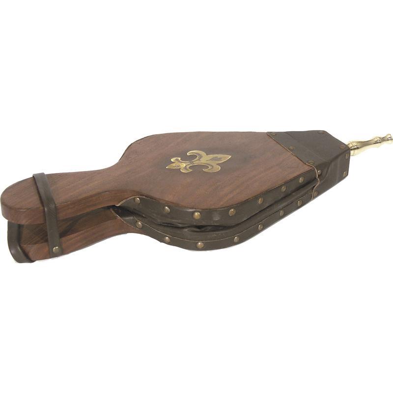 Soufflet en bois et simili cuir