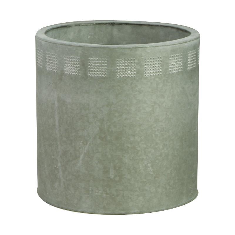 cache pot en zinc gcp114s aubry gaspard. Black Bedroom Furniture Sets. Home Design Ideas
