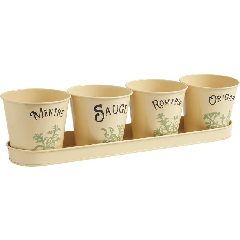 jardini re 4 pots en zinc laqu aromates gja1380 aubry. Black Bedroom Furniture Sets. Home Design Ideas
