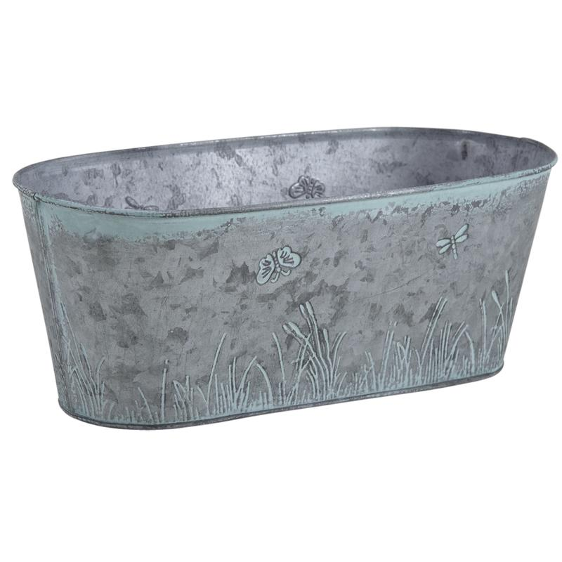 jardini re en zinc patin gja1630 aubry gaspard. Black Bedroom Furniture Sets. Home Design Ideas