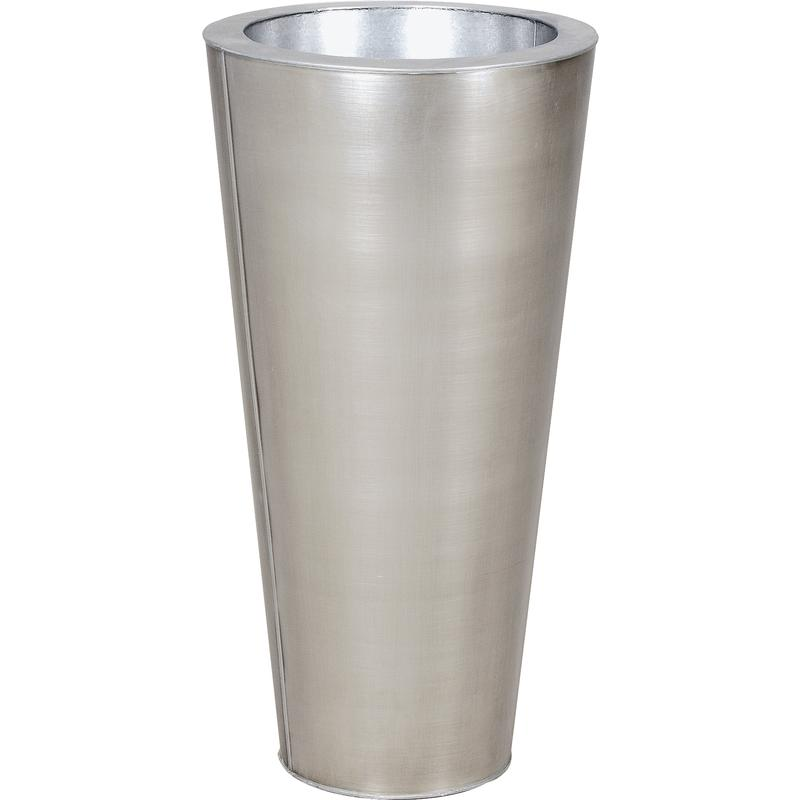 vase rond en zinc titanium gva1180 aubry gaspard. Black Bedroom Furniture Sets. Home Design Ideas