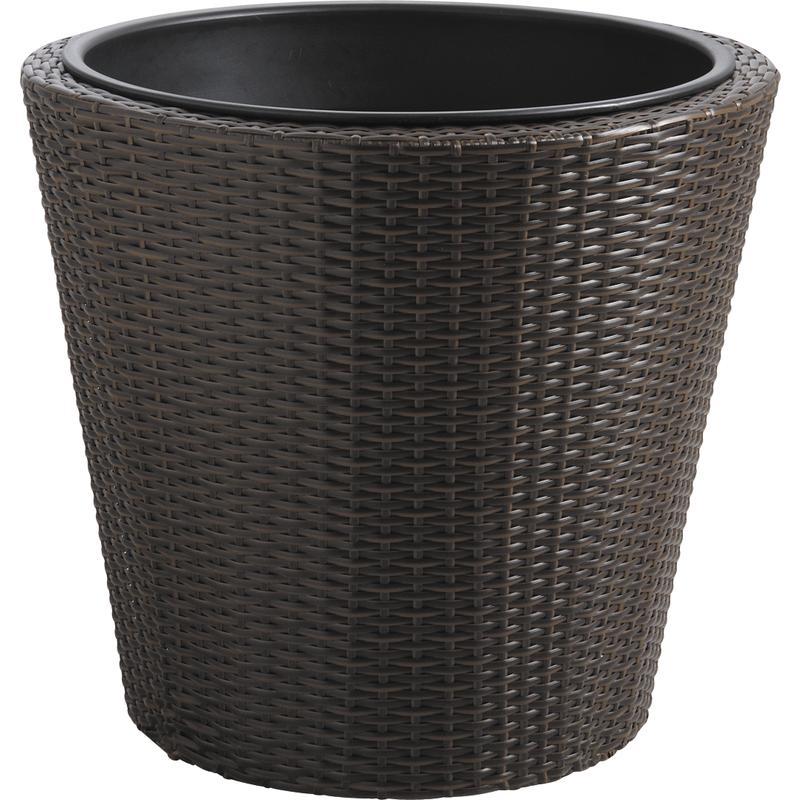 cache pot en rotin synth tique et m tal jcp302s aubry. Black Bedroom Furniture Sets. Home Design Ideas