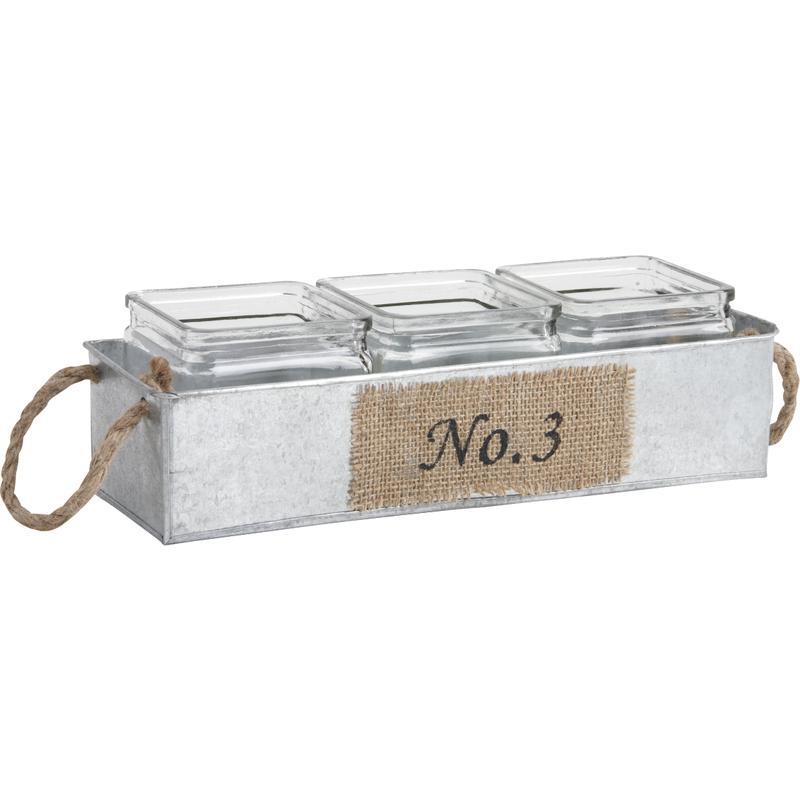 Jardini re en zinc 3 pots en verre jja1920v aubry - Jardiniere en zinc ...