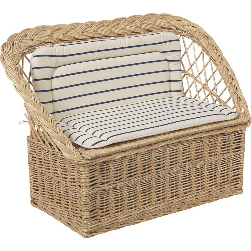 banquette coffre jouets en osier blanc kba1050 aubry gaspard. Black Bedroom Furniture Sets. Home Design Ideas