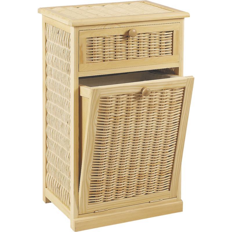 panier linge en pin et osier kli2180c aubry gaspard. Black Bedroom Furniture Sets. Home Design Ideas