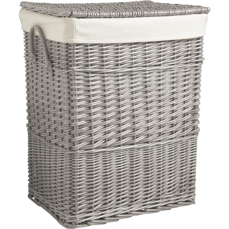 panier linge en osier gris kli2752c aubry gaspard. Black Bedroom Furniture Sets. Home Design Ideas