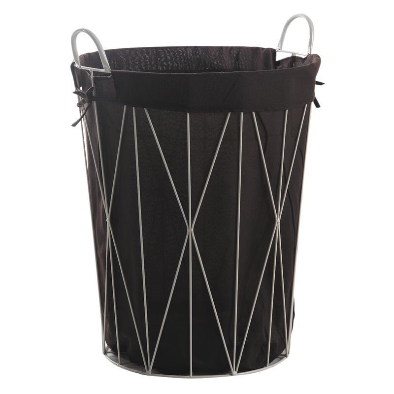 Panier à linge en métal et coton - KLI3310C   Aubry-Gaspard b4f910052df