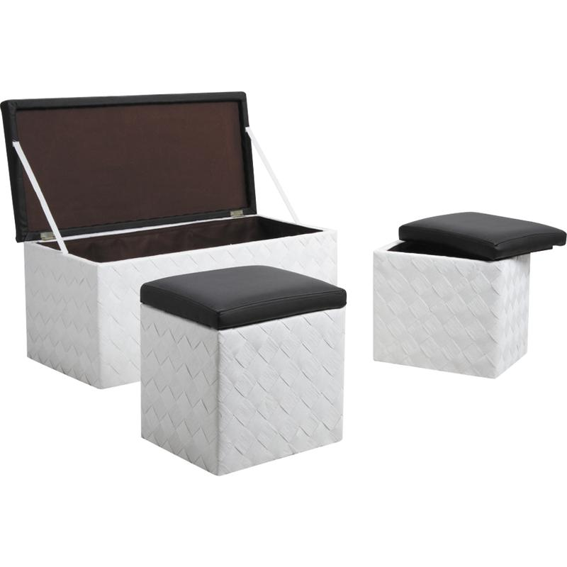 coffres poufs en corde et simili cuir kpo121sc aubry. Black Bedroom Furniture Sets. Home Design Ideas