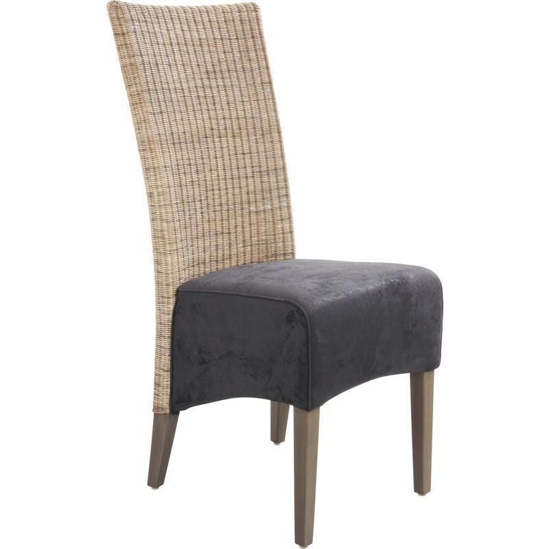 Chaise en rotin teck et su dine mch1350c aubry gaspard for Chaise en rotin et metal