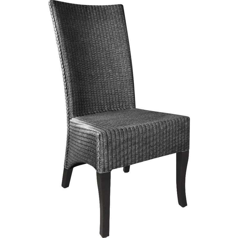 chaise en loom et acajou adlon mch1380 aubry gaspard. Black Bedroom Furniture Sets. Home Design Ideas