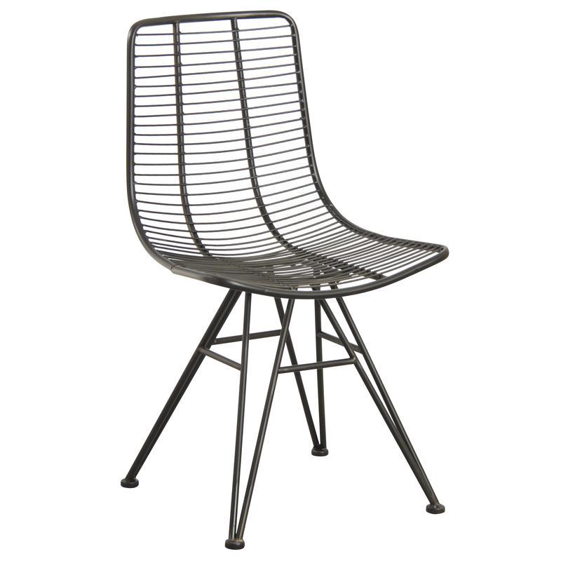Chaise en m tal noir antique mch1520 aubry gaspard for Chaise metal noir