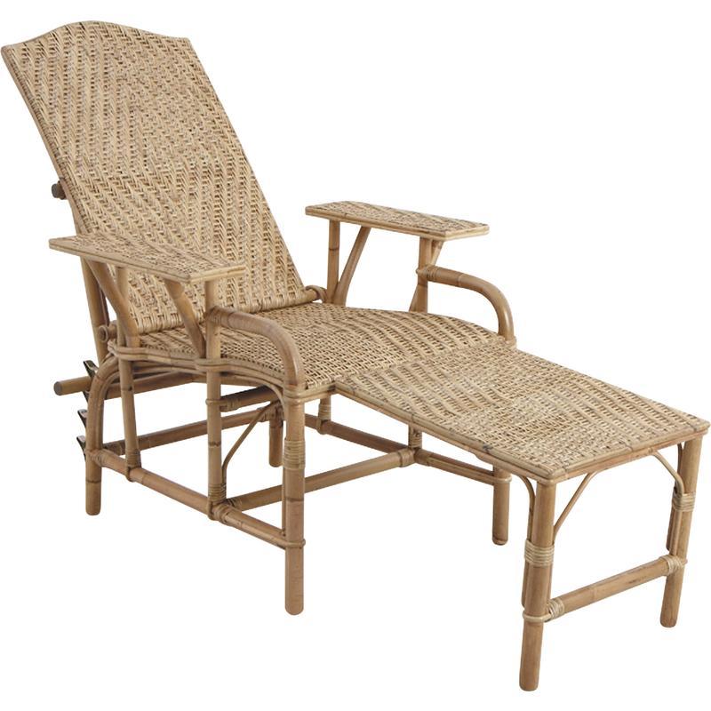 chaise longue en lame de rotin antique mcl1080 aubry gaspard. Black Bedroom Furniture Sets. Home Design Ideas