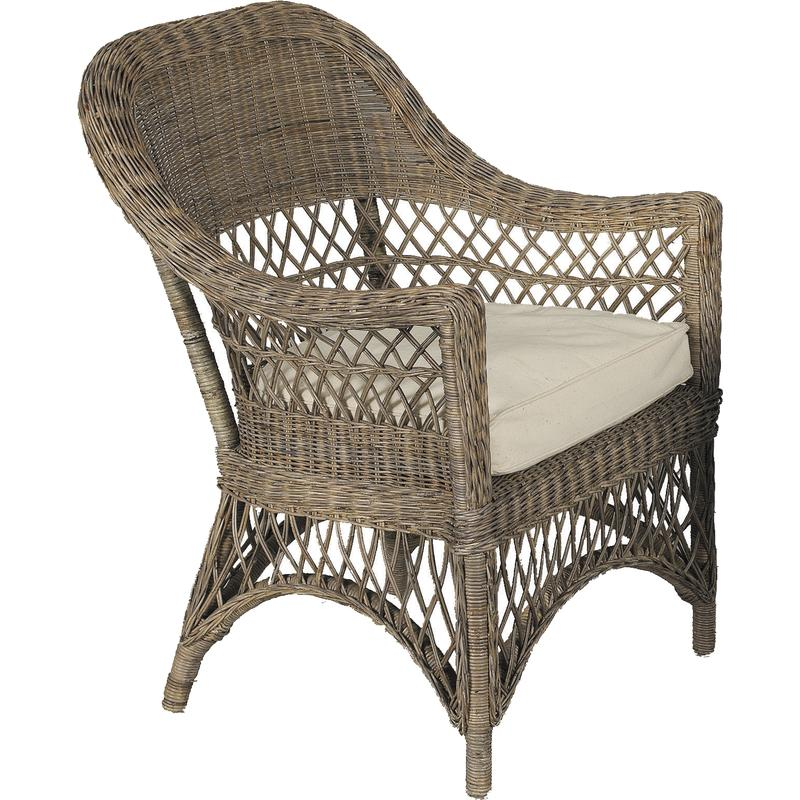 fauteuil en rotin gris polo mfa1990c aubry gaspard. Black Bedroom Furniture Sets. Home Design Ideas