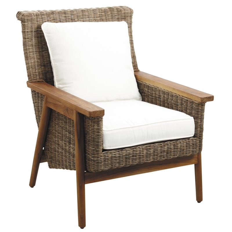 fauteuil en poelet gris antique et teck mfa2700c aubry. Black Bedroom Furniture Sets. Home Design Ideas
