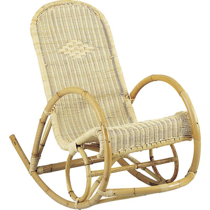 rocking chair en rotin mro1030 aubry gaspard. Black Bedroom Furniture Sets. Home Design Ideas