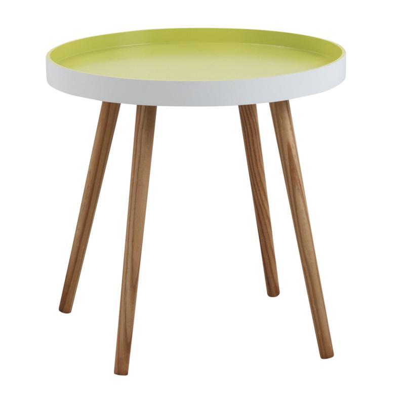 table d 39 appoint ronde en bois et mdf laqu anis mtb1290 aubry gaspard. Black Bedroom Furniture Sets. Home Design Ideas