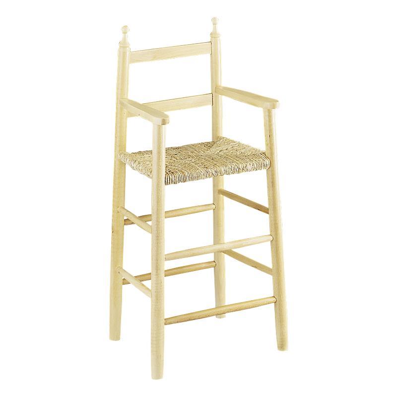 Chaise haute en h tre naturel blanchi nch1030 aubry for Chaise en hetre