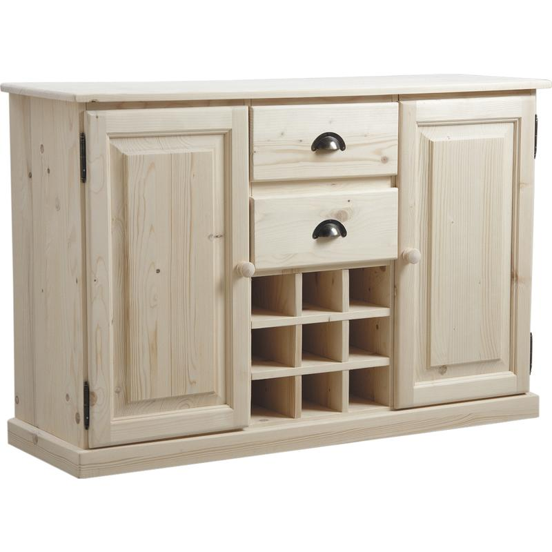 buffet de cuisine en bois brut ncm2730 aubry gaspard. Black Bedroom Furniture Sets. Home Design Ideas