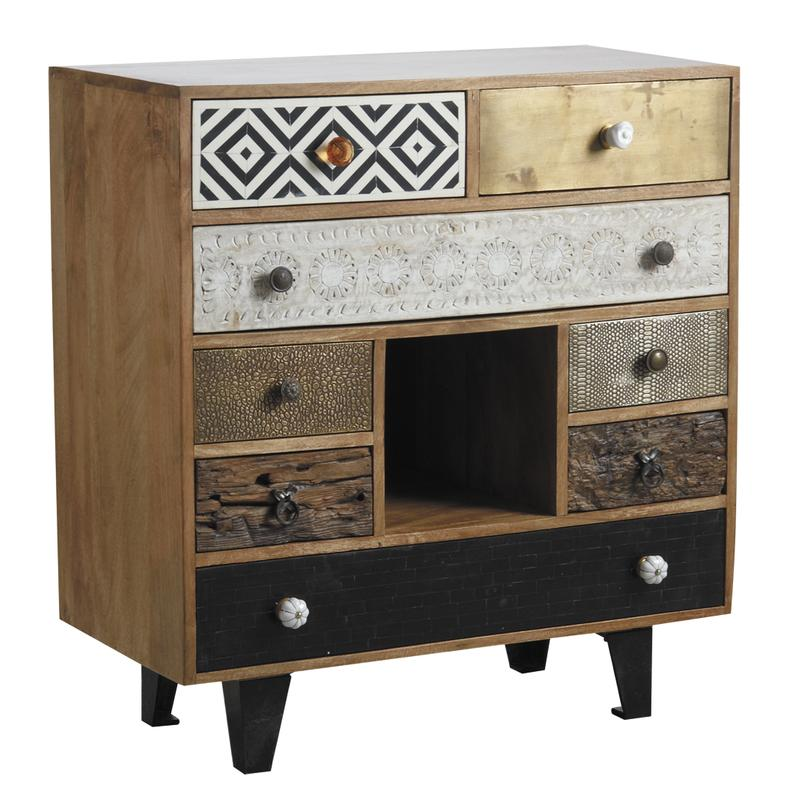 commode en manguier ncm2780 aubry gaspard. Black Bedroom Furniture Sets. Home Design Ideas