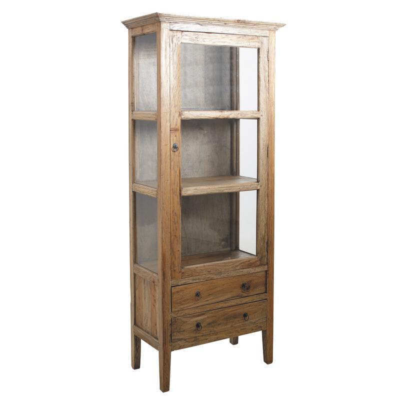 armoire en bois et verre ncm3120v aubry gaspard. Black Bedroom Furniture Sets. Home Design Ideas
