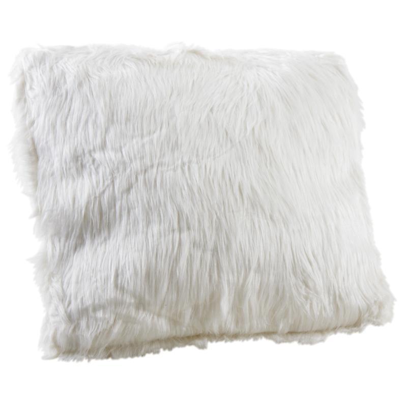 Coussin Blanc Imitation Fourrure Nco1840c Aubry Gaspard