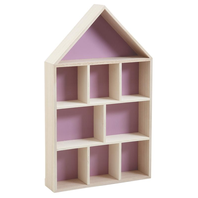 Etag re murale maison 9 cases nem1260 aubry gaspard for Petite etagere bois