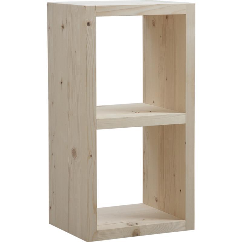 Etag re en bois brut 2 compartiments net2052 aubry gaspard for Etagere bois brut