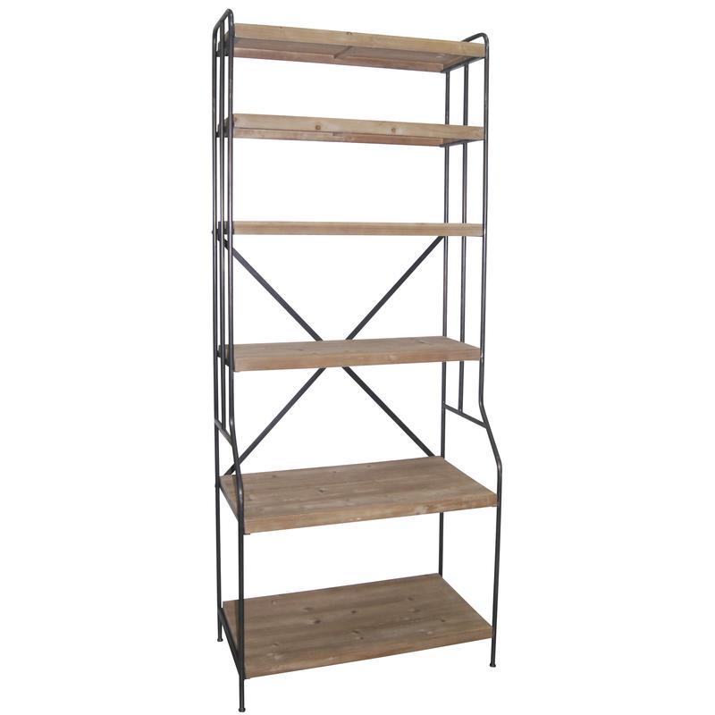 etag re en bois et m tal net2300 aubry gaspard. Black Bedroom Furniture Sets. Home Design Ideas