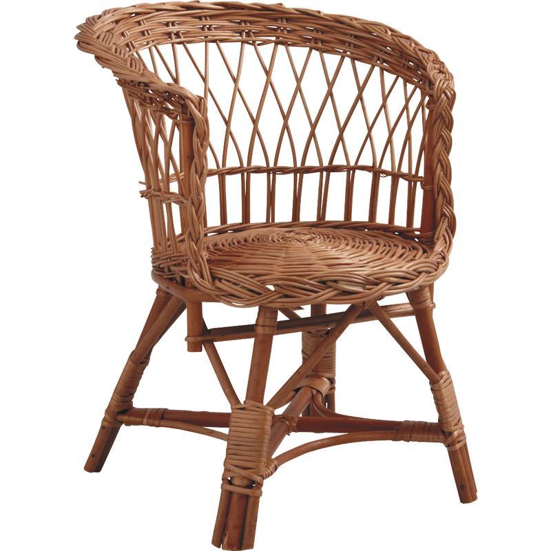 fauteuil pour enfant en osier buff nfe1220 aubry gaspard. Black Bedroom Furniture Sets. Home Design Ideas