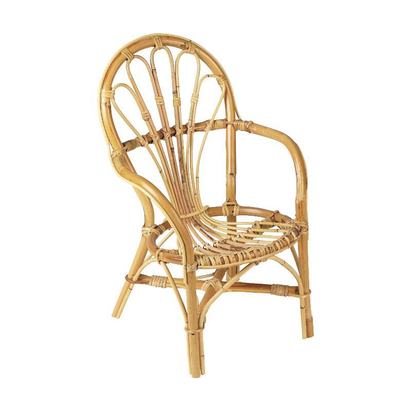 fauteuil pour enfant en rotin nfe1300 aubry gaspard. Black Bedroom Furniture Sets. Home Design Ideas