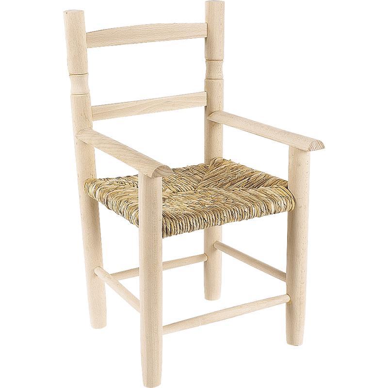 Chaise enfant en h tre brut nfe1310 aubry gaspard - Chaise en osier enfant ...