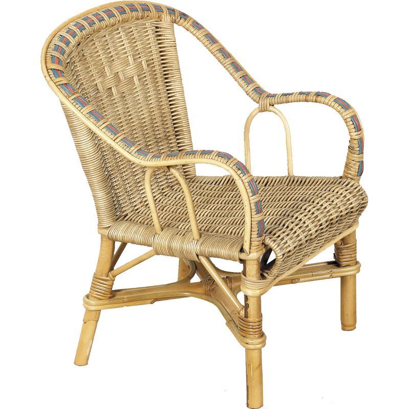 fauteuil pour enfant en rotin nfe1350 aubry gaspard. Black Bedroom Furniture Sets. Home Design Ideas