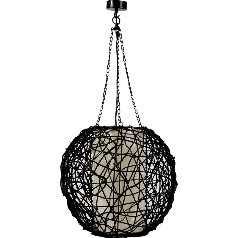 lampe boule en rotin nla1120c aubry gaspard. Black Bedroom Furniture Sets. Home Design Ideas