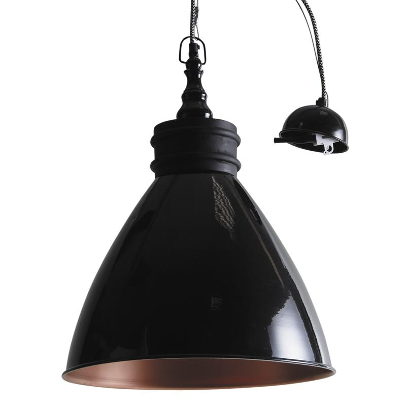 lampe suspension en m tal laqu noir et bois nla1890 aubry gaspard. Black Bedroom Furniture Sets. Home Design Ideas