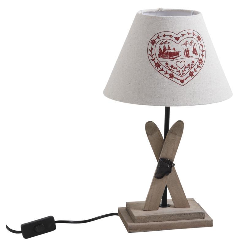 Lampe avec pied en bois NLA2020 Aubry Gaspard # Lampe Avec Pied En Bois