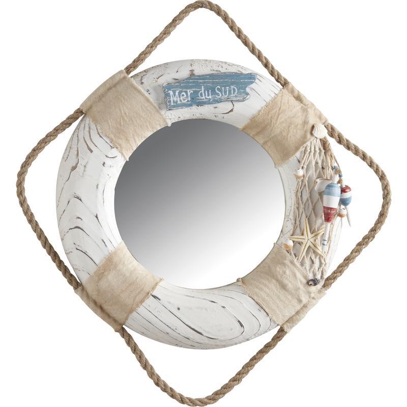 Corde De Bois Et Stere : Miroir en bois et corde d?cor marin – NMI1260V Aubry-Gaspard