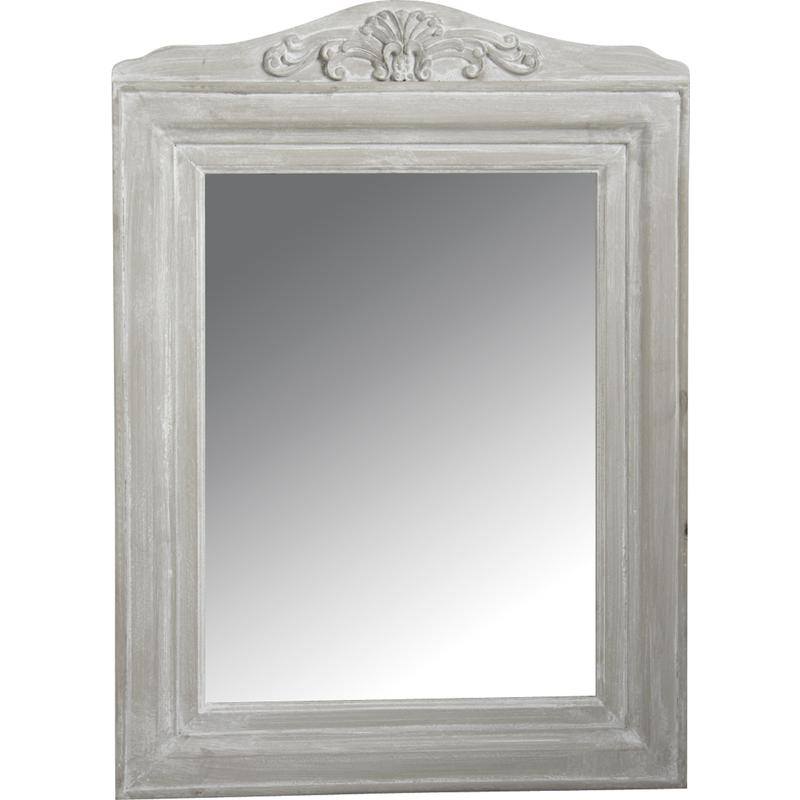 Miroir en bois blanc antique nmi1340v aubry gaspard for Miroir bois flotte blanc
