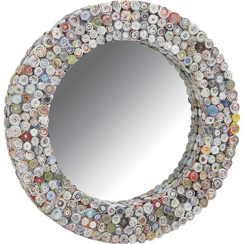 miroir rond en papier recycl nmi1400v aubry gaspard. Black Bedroom Furniture Sets. Home Design Ideas