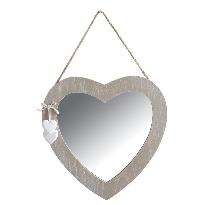 miroir coeur en bois nmi1540v aubry gaspard. Black Bedroom Furniture Sets. Home Design Ideas