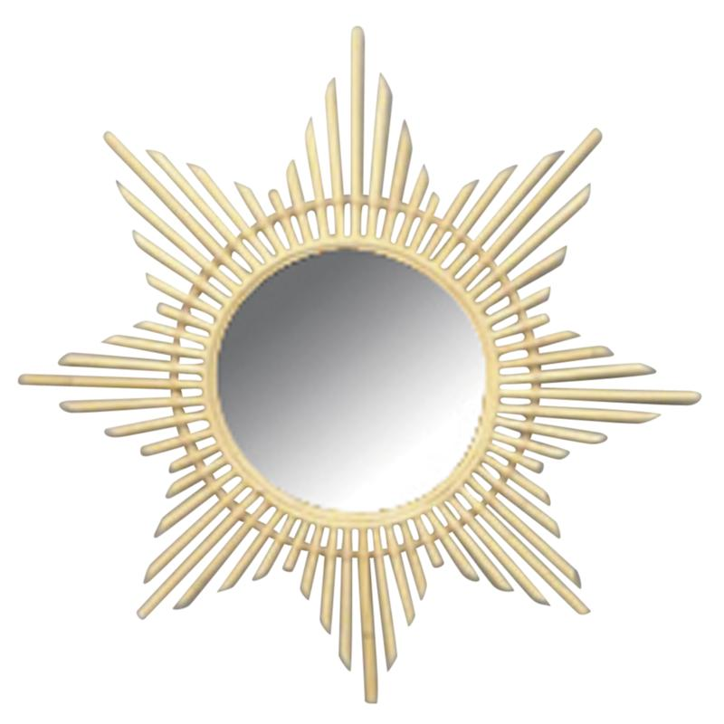 Miroir en rotin etoile nmi1550v aubry gaspard for Miroir rotin
