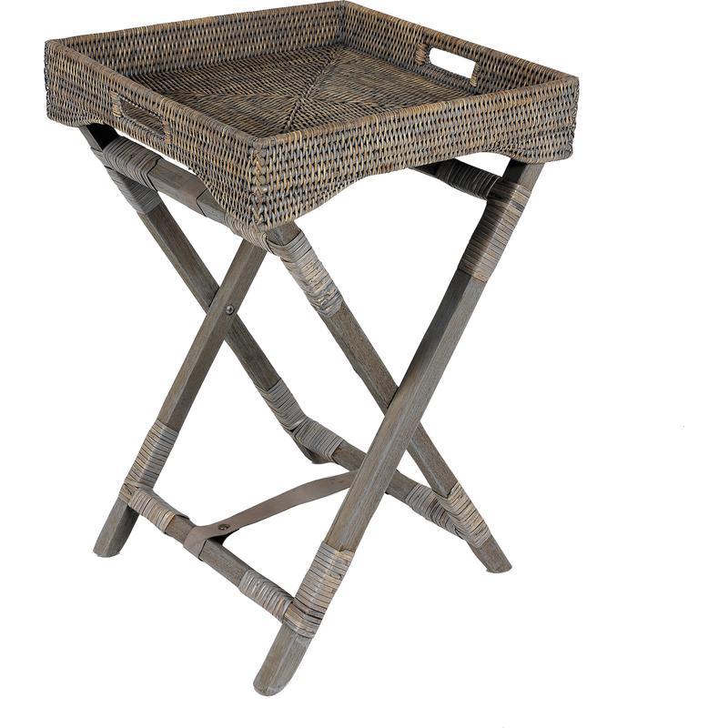 plateau sur pied en rotin npl1060 aubry gaspard. Black Bedroom Furniture Sets. Home Design Ideas