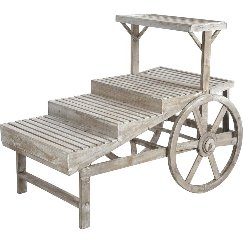 charrette pour fleuriste en bois npr1350 aubry gaspard. Black Bedroom Furniture Sets. Home Design Ideas