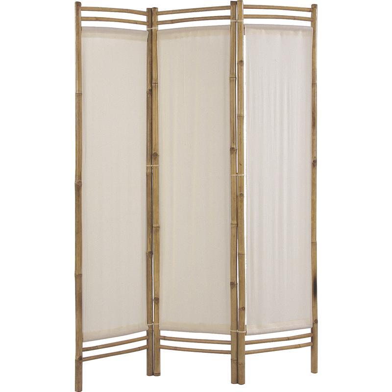 paravent en bambou et coton npv1090 aubry gaspard. Black Bedroom Furniture Sets. Home Design Ideas
