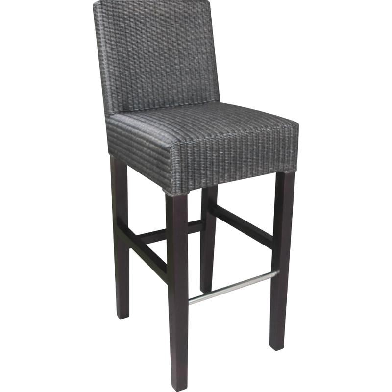 tabouret de bar en loom et acajou ntb1350 aubry gaspard. Black Bedroom Furniture Sets. Home Design Ideas