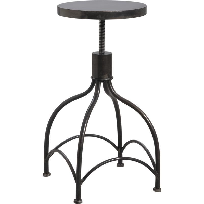 tabouret de bar en m tal ntb1400 aubry gaspard. Black Bedroom Furniture Sets. Home Design Ideas