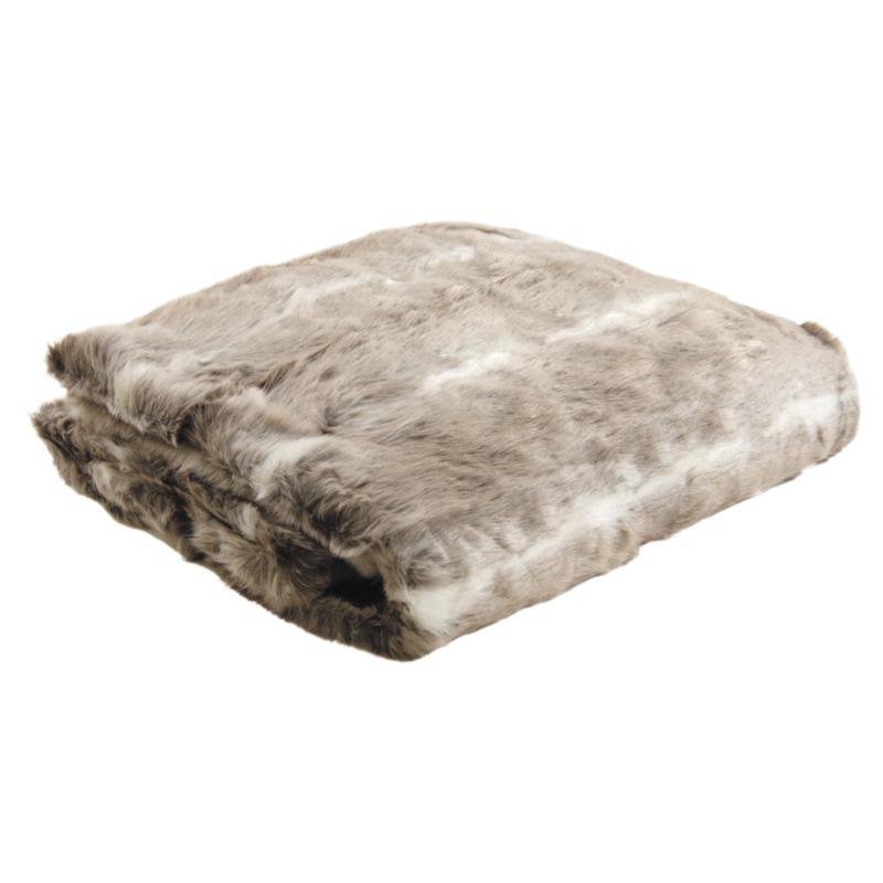 plaid imitation fourrure beige ntx1020c aubry gaspard. Black Bedroom Furniture Sets. Home Design Ideas