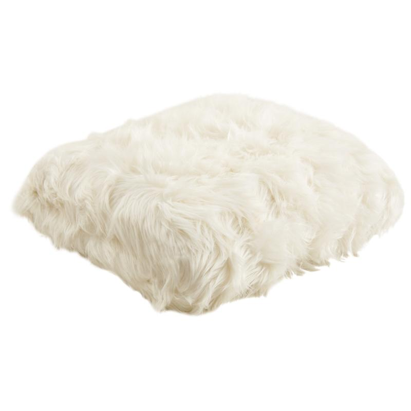 Plaid imitation fourrure blanc ntx1030c aubry gaspard - Plaid en fourrure ...